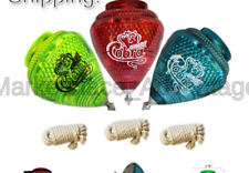 3 Pack Jumbo Cobra Durable Plastic Spin Tops & Metal Tip Made in Mexico - Tro...