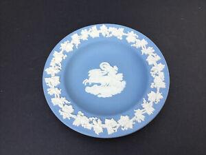 Vintage Wedgwood Jasperware Blue Pin Tray Trinket Dish Pot