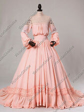 Victorian Edwardian Dress Gown Reenactment Ghost Bride Halloween Costume 388 M