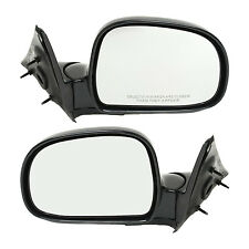 New Set of 2 Manual Operate Door Mirror for Chevrolet S10 / GMC Sonoma 1994-2004