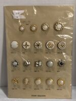 Vintage Salesman's Sample Fancy Buttons Card