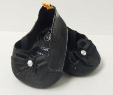 Build A Bear ~Black Sparkly Shoes * Heels