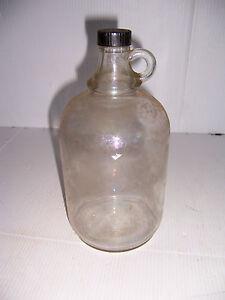 VINTAGE BARBER SHOP AFTER SHAVE LOTION OR HAIR TONIC LARGE GLASS BOTTLE JUG