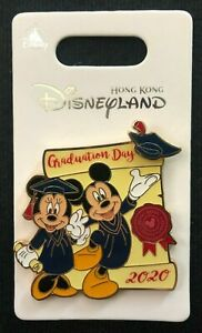HKDL 2020 Mickey and Minnie Graduation Day Disney Pin