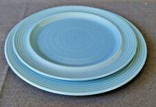 "Carnivale Signature Stoneware Blue 12 1/4"" Serving Platter & 10 3/4 Dinner Plate"