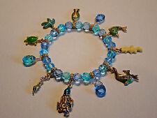 Armband Armreif Bracelet Glas Perlen & Glasur Anhänger Damenarmband Schmuck NEU