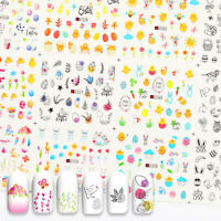 Nail Water Decals Animal Plant Cartoon Pattern Nail Art Transfer Stickers Tips