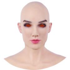 Silikon Headpiece realistischem Kopf- und Gesichts-Make-up für  Crossdressing