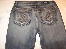 Rock & Republic Jeans Kiedis Bootcut Distressed w Stud Pockets Sz 26 (Run BIG)