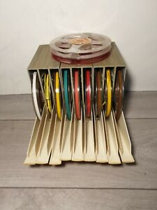 BASF Magnetic Tape Holders X9 With 9 Used Tapes plus x2 reels