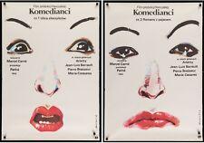 LES ENFANTS DU PARADIS CHILDREN OF PARADISE Polish movie posters x2 MARCEL CARNE