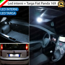 KIT FULL LED INTERNI COMPLETO FIAT PANDA 169 + LUCI TARGA LED 18 LED CANBUS
