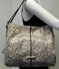 "Anne Klein Snake Python Gray Black Hobo Shoulder Bag Handbag Purse Tote ""NWT"""