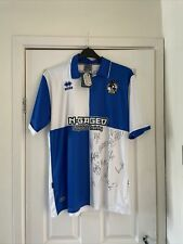 More details for bristol rovers 2009/10 brand new home shirt signed size extra large