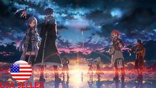 "Sword Art Online Asuna Sinon Leafa 42"" x 24"" Large Wall Poster Print Anime #29"