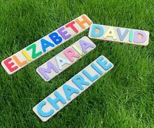 Personalized Name Wooden Puzzle for Kids Children Toddlers, First Birthday Gift