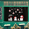 Merry Christmas Window Wall Sticker Decals Santa Claus Snowflake Xmas Home Decor