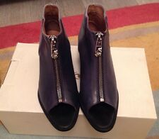 Designer Diesel ankle boots, black and grey leather and canvas size 6 BNIB