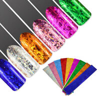 Laser Transfer 3D Manicure Decor Nail Art Stickers Nail Foil Holographic Starry