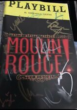 Moulin Rouge Aaron Tveit Karen Cast Signed Broadway Musical Playbill Movie Paris