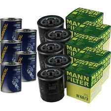 5x Original MANN Ölfilter W 68/3 + 5x SCT Motor Flush Motorspülung