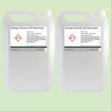 Hydrogen peróxido de grado alimenticio 12% 2 X 5 litros (10L)