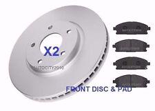 FOR NISSAN ELGRAND ME51 2.5i V6 E51 3.5i 02-10 FRONT BRAKE DISC & PAD SET