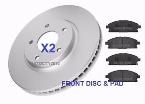 FOR NISSAN ELGRAND E51 E52 2.5 3.0 3.5 02-15 FRONT BRAKE DISC & PAD SET