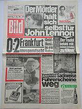 Bild Zeitung 11.12.1980, Der Mörder hält sich selbst für John Lennon