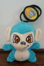 Neopets BLUE MYNCI Plush with PUPPYBLEW Petpet Clip 2005 McDonald's Monkey