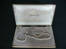 Beautiful antique Krementz 14K GOLD and pearl necklace and earrings
