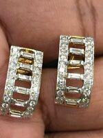 1,15 Cts Ronde Brillante Couper Diamants Clous Boucles d'oreilles En 750 18K Or