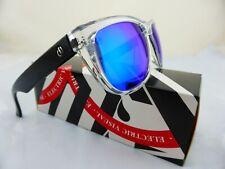 Electric Flip Side Sunglasses Black Crystal - Grey Blue Chrome Lens