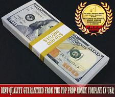 PROP MOVIE MONEY NEW STYLE $10,000 - $100 Bills - Copy Replica Fake Prop Money