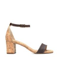Sandalo vegano col tacco e cinturino caviglia fibbia aperto traspirante organico