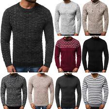 Suéter Sweater chaqueta de punto jersey de punto suéter fino caballeros ozonee 8467 Mix *