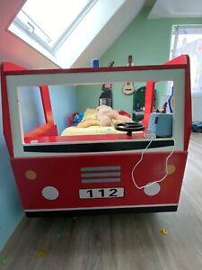 Kinderbett Autobett Bett Feuerwehr Feuerwehrautobett 200x90 rot