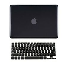 """2 in 1 BLACK Crystal Hard Case  for Macbook PRO 15"""" A1286 with Keyboard Cover"""
