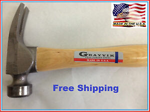 Grayvik 23 oz. Drop Forged Steel Milled Face Hammer_Made In USA