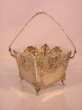 Alte Henkelschale Silber Jugendstil um 1900 Wien