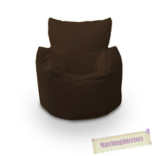 Marron Grain Chaise Enfants Résistant Aux Éclaboussures Intérieur Extérieur Pouf