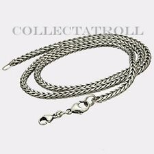"""Authentic Trollbeads Necklace With Lock 16.5"""" Trollbead  TAGNE-00004"""
