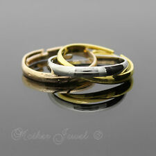 CHILDRENS GIRLS WHITE YELLOW ROSE GOLD GP RUSSIAN WEDDING BAND COSTUME TOY RING