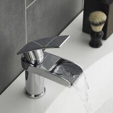CASCATA Chrome bagno bacino lavandino rubinetto miscelatore mono & fessurata pop up rifiuti