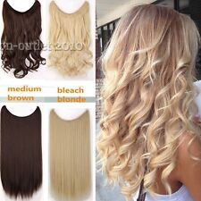 Long Straight Curly Piece Secret Wire Hair Piece Hair Extensions As Human Tsc