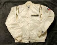 Rare White Vintage San Diego Chargers Authentic pro line NFL Starter Jacket Lg