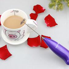 Acier inoxydable Mini Mixeur Batteur Fouet électrique à café lait oeufs Batterie
