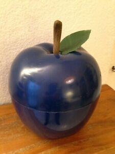 BAC à Glaçons  Pomme BLEUE    avec feuille   Seau à glace an 70's 29/11
