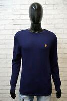 US POLO ASSN Maglia Maglietta Shirt Polo Uomo Taglia M Manica Lunga Blu Cotone