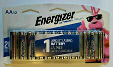 Energizer Ultimate Lithium AA Batteries 12 Pack L91SBP-12 Exp. 2038-2039